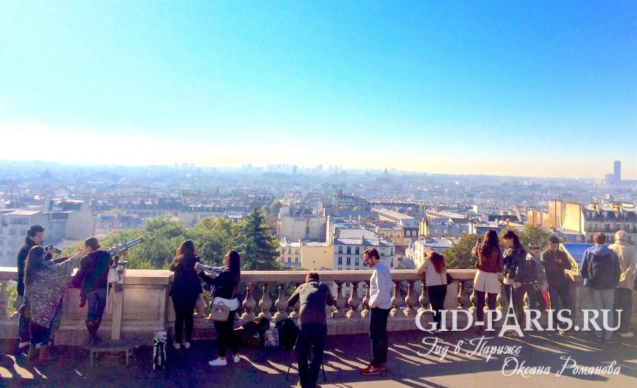 Холм Монмартр в Париже
