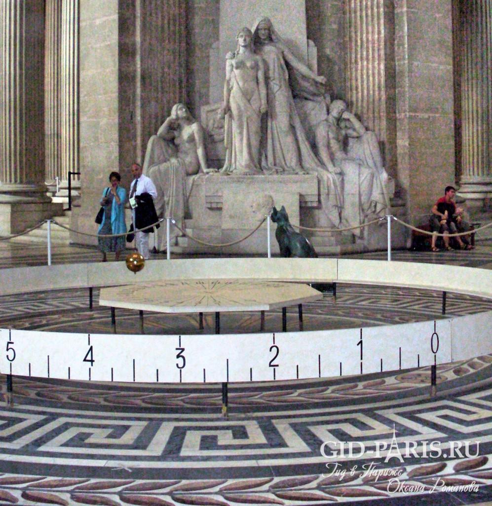 Маятник Фуко Пантеон в Париже