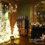 Дворец Во Ле Виконт в Рождественском убранстве